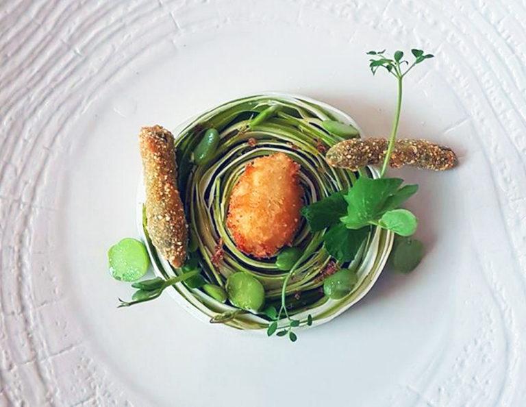 Crudità di asparagi Chef  Stefano Basello del Fogolar
