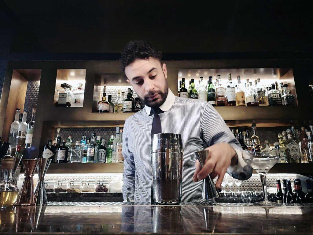 Vincenzo Tropea barman del Ristorante Pierluigi di Roma