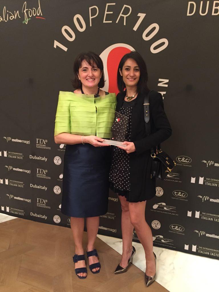 Aceto Balsamico di Modena IGP: il Presidente Mariangela Grosoli a Dubai per premiare il Borro Tuscan Bistro con la menzione '100per100 Italian Menu'