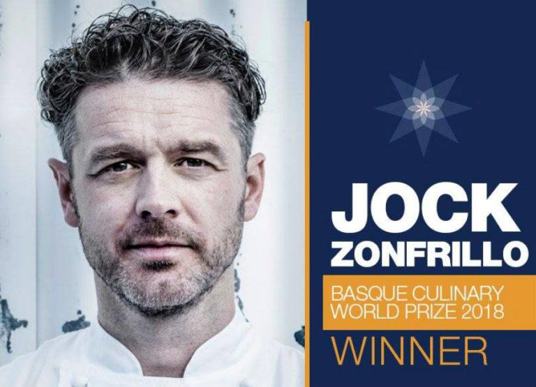 Lo chef scozzese, di origini italiane, Jock Zonfrillo vince il Basque Culinary World Prize 2018